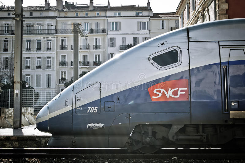 france train TGV Duplex Dasye stock photo