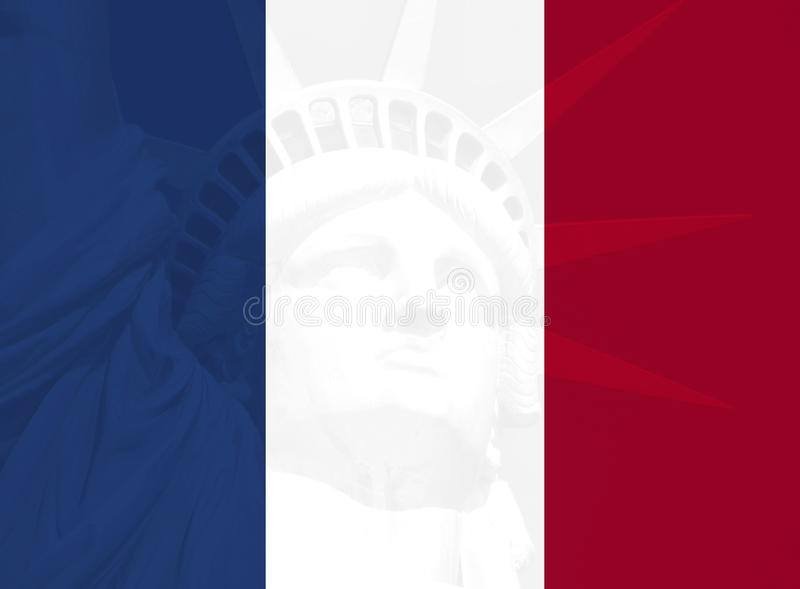 France and usa relation. Concept royalty free illustration