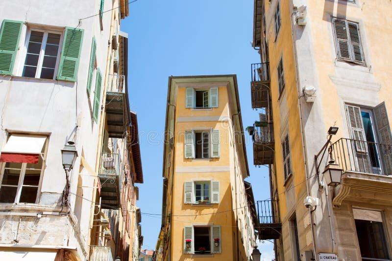 france Vieille architecture de ville de Nice sur la Côte d'Azur photo libre de droits