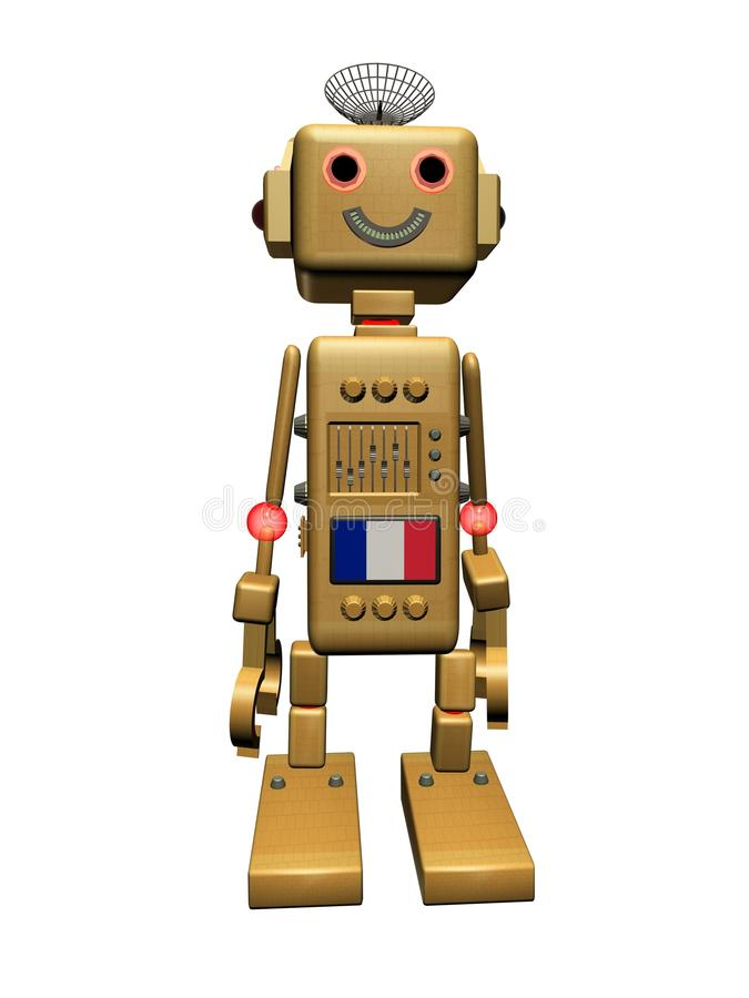 France Vintage Robot Royalty Free Stock Photography