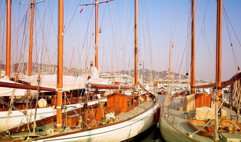 France w cannes dwa jachtu zdjęcie royalty free