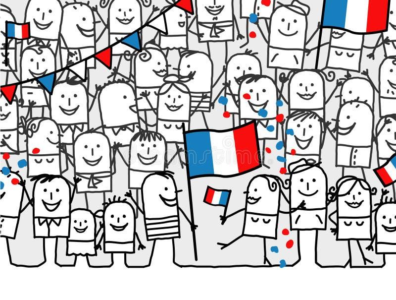 france wakacje obywatel ilustracja wektor