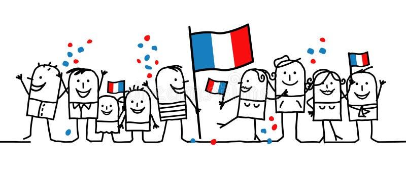 france wakacje obywatel royalty ilustracja