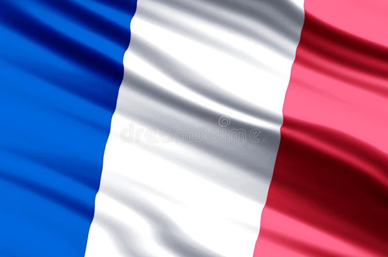 France flag illustration royalty free illustration