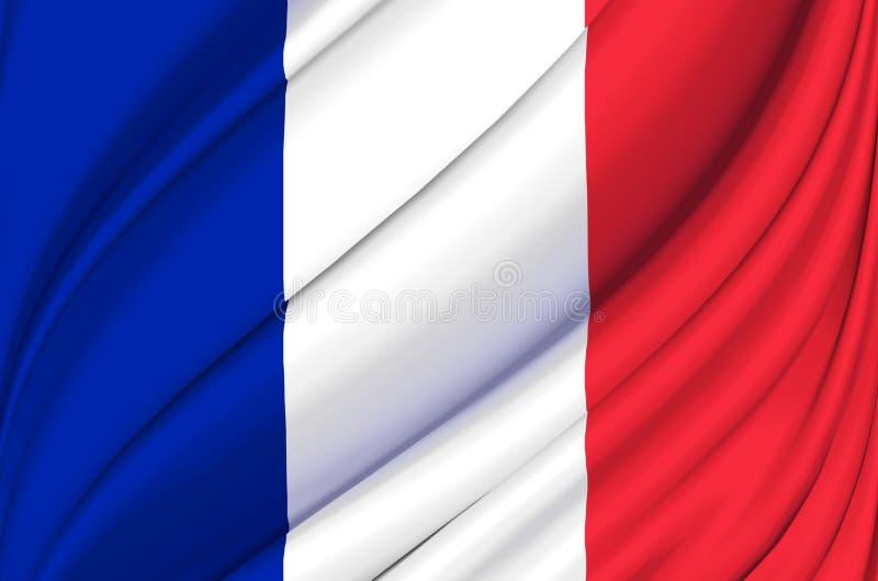 France waving flag illustration. royalty free illustration