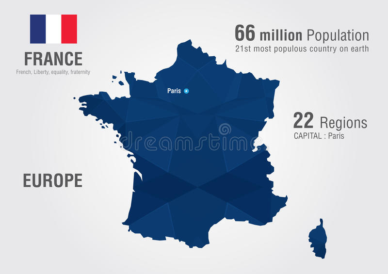 France world map with a pixel diamond texture stock vector download france world map with a pixel diamond texture stock vector illustration of population gumiabroncs Image collections