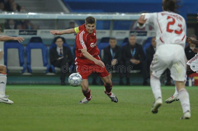 FranceFootball 2009 beste 30Players Stiven Gerrard lizenzfreies stockbild