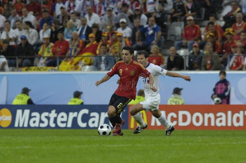 FranceFootball 2009 meilleurs 30Players Xavi Hernandez image libre de droits