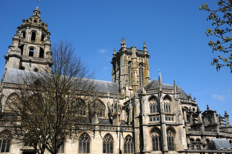 Frances, église d'Argentan dans Normandie photos stock