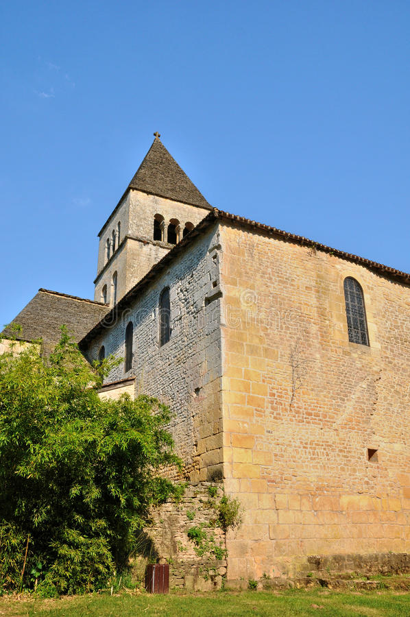 Frances, église de Vezere de sur de Léon de saint dans Perigord image stock