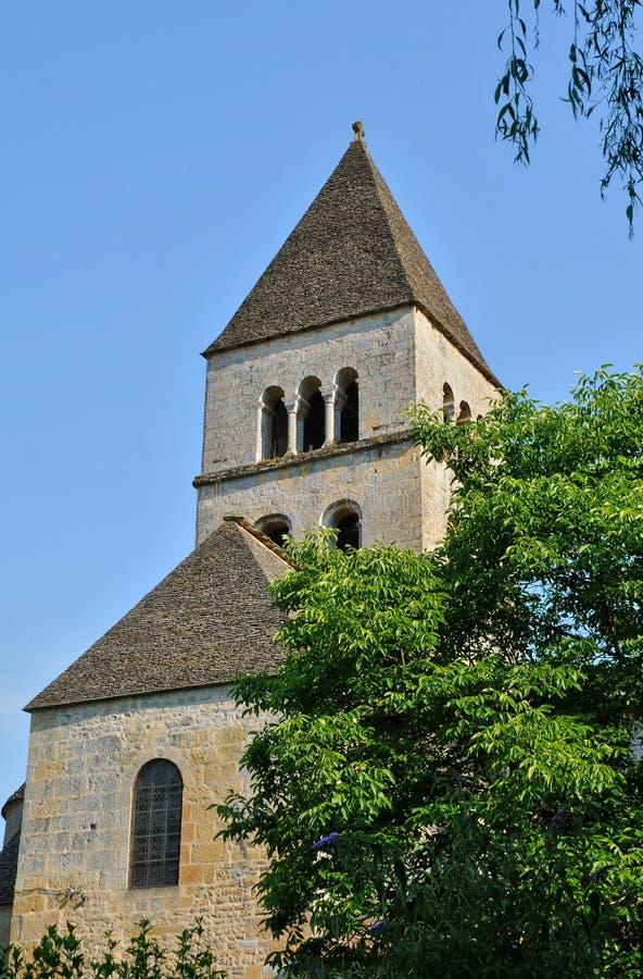 Frances, église de Vezere de sur de Léon de saint dans Perigord photos stock