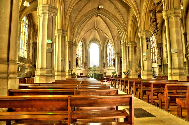 Frances, église historique de Buchy photos libres de droits
