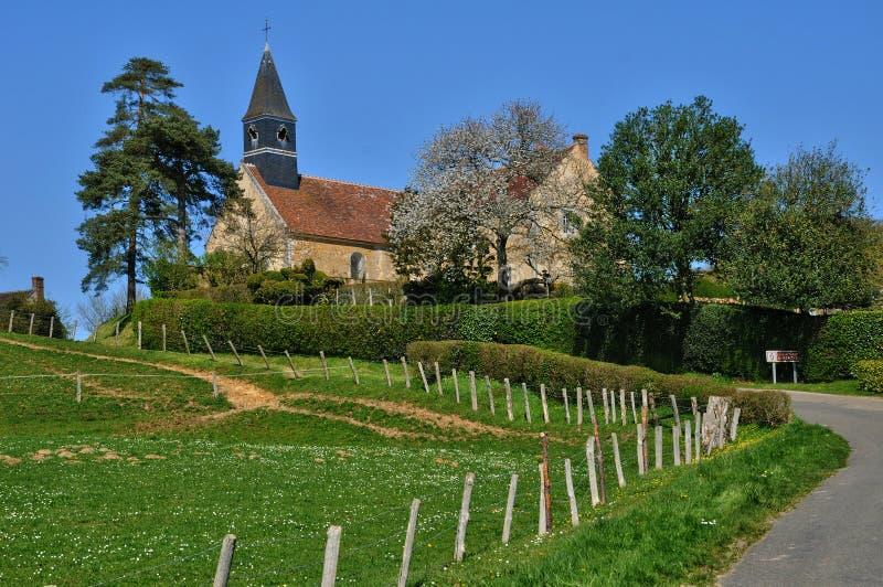 Frances, église historique de l Hermitiere dans Normandie photos libres de droits