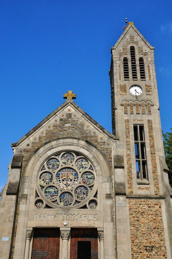 Frances, église historique de Pont d Ouilly photo stock