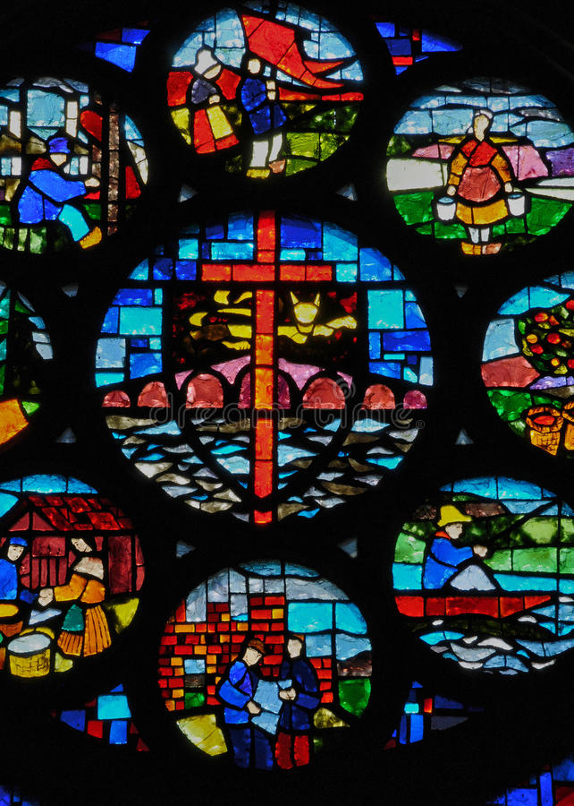 Frances, église historique de Pont d Ouilly photographie stock