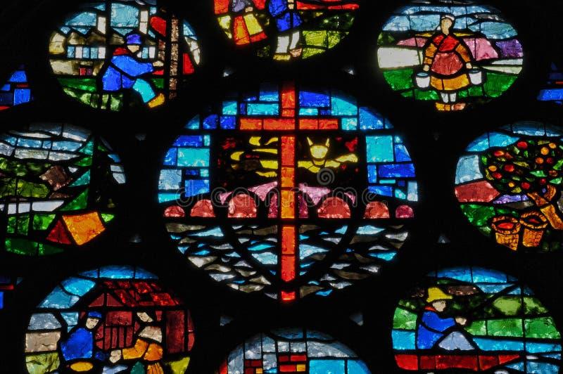 Frances, église historique de Pont d Ouilly images libres de droits