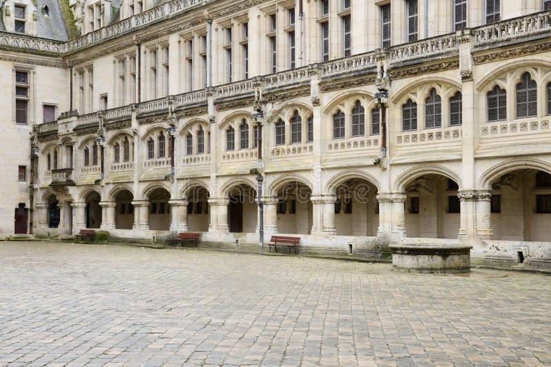 Frances, château historique de Pierrefonds dans Picardie photo stock