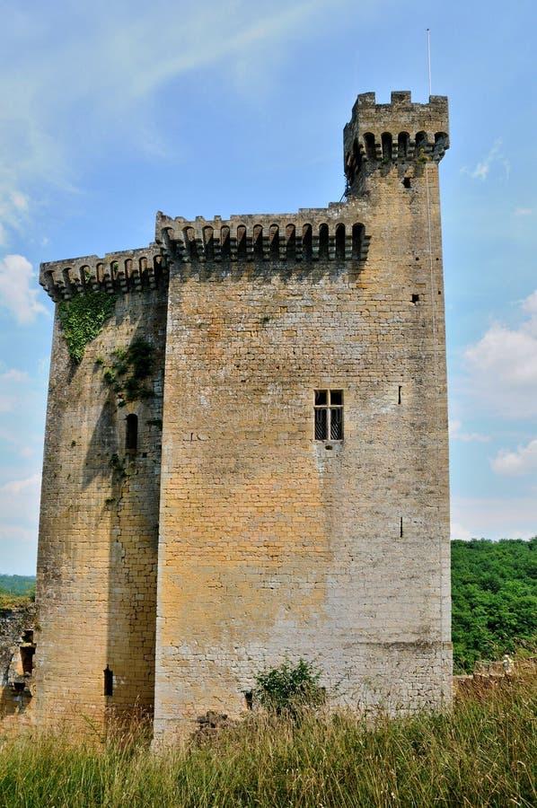 Frances, château pittoresque de Commarque dans Dordogne photographie stock