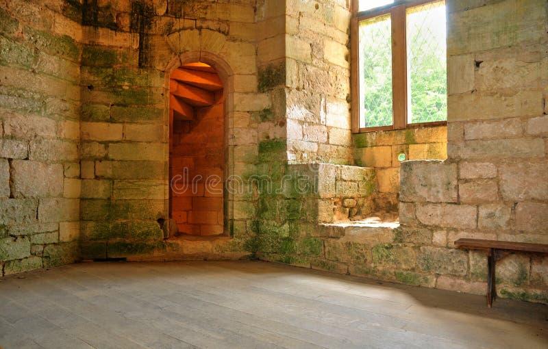 Frances, château pittoresque de Commarque dans Dordogne image libre de droits
