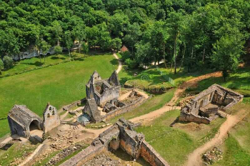 Frances, château pittoresque de Commarque dans Dordogne images libres de droits