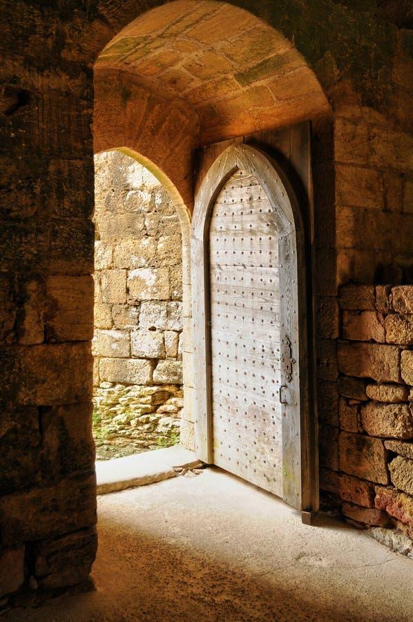 Frances, château pittoresque de Commarque dans Dordogne photos libres de droits