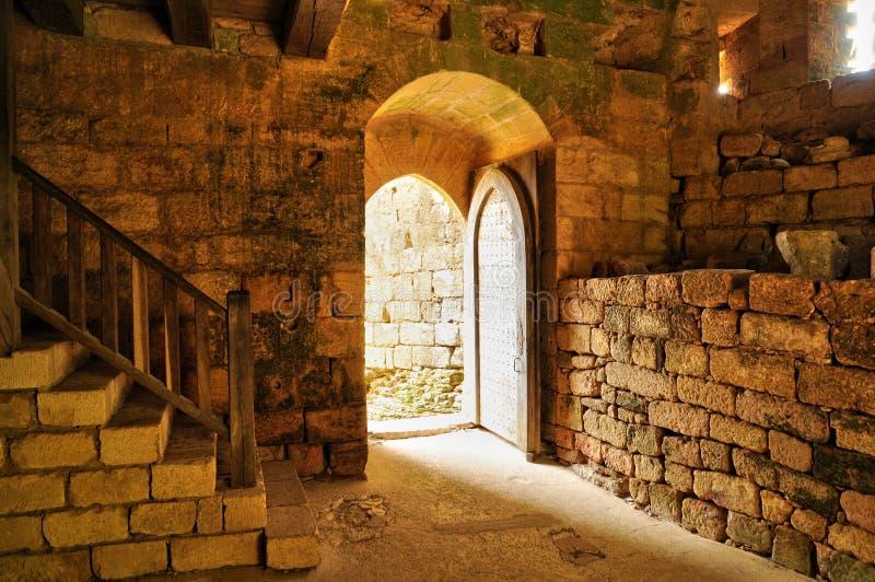 Frances, château pittoresque de Commarque dans Dordogne image stock
