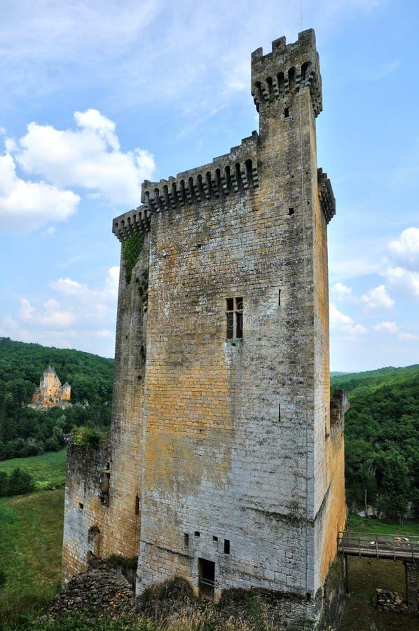 Frances, château pittoresque de Commarque dans Dordogne photo stock