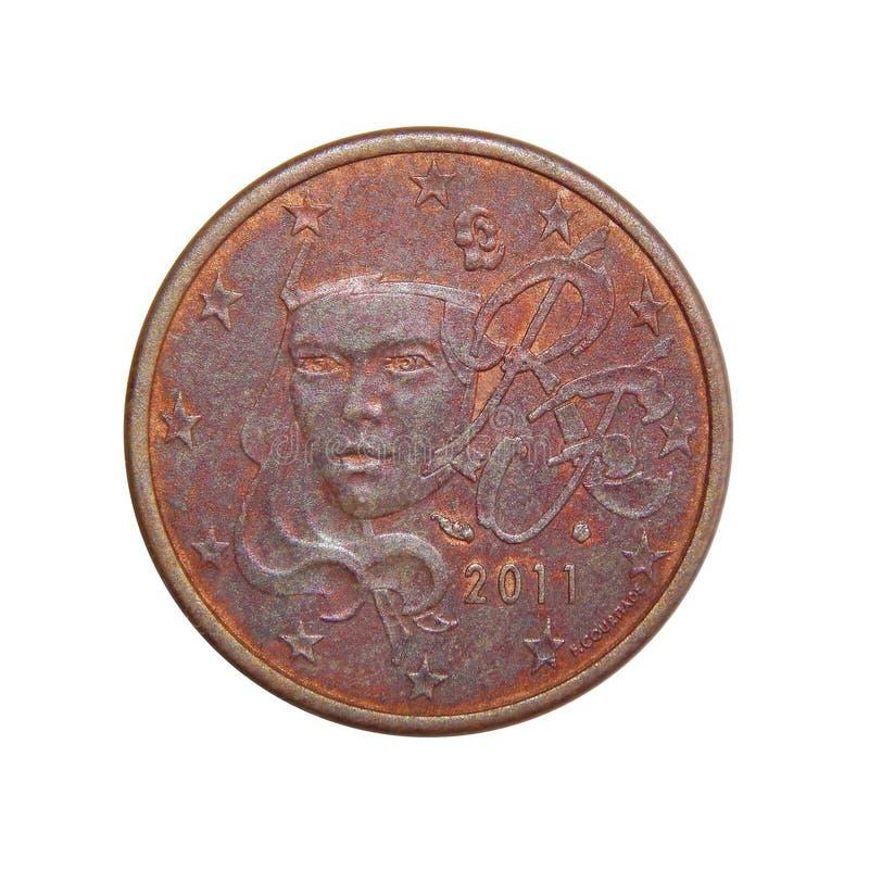 Frances d'euro cents de la pièce de monnaie 5 images stock
