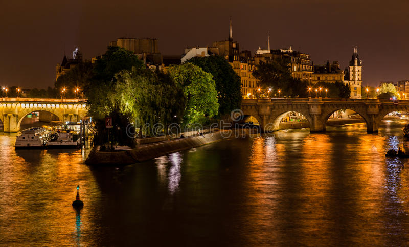 Frances d'Ile de La Cite Paris image stock
