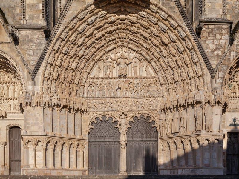 Frances de cathédrale de Bourges photos libres de droits