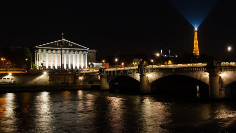 Frances de Paris de rive de la Seine images libres de droits