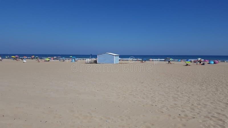 Frances de plage de plage de Narbonne photographie stock