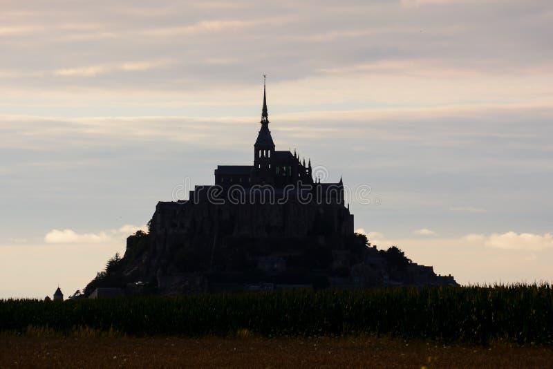 Frances du nord de la Normandie d'île de marée de le Mont Saint-Michel photographie stock libre de droits