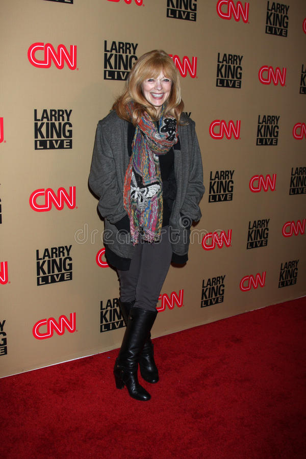 Frances Fisher, Larry King photographie stock libre de droits