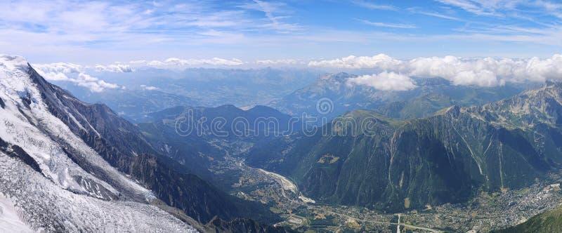 Frances, gamme de montagne Mont Blanc photos stock