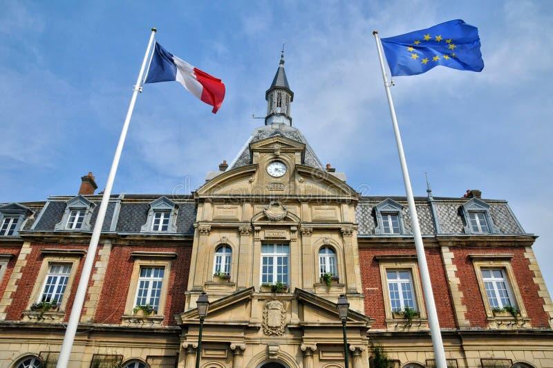 Frances, hôtel de ville de Cabourg dans Normandie photographie stock libre de droits