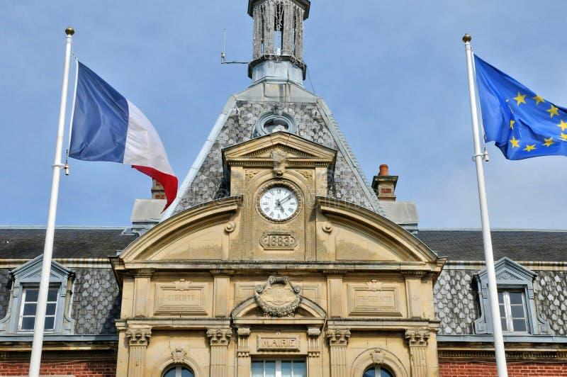 Frances, hôtel de ville de Cabourg dans Normandie images stock
