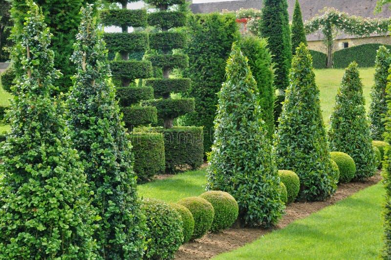 Frances, Jardins du Manoir pittoresque d Eyrignac dans Dordogne image libre de droits