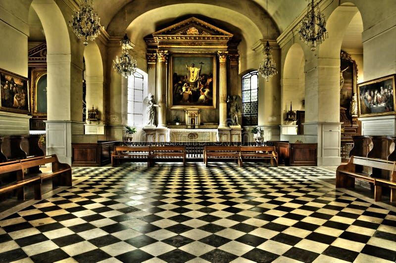 Frances, l'église classique de Marly le Roi photographie stock libre de droits