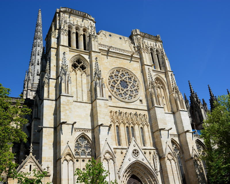 France, l'Aquitaine, Bordeaux, saint André Cathedral image stock