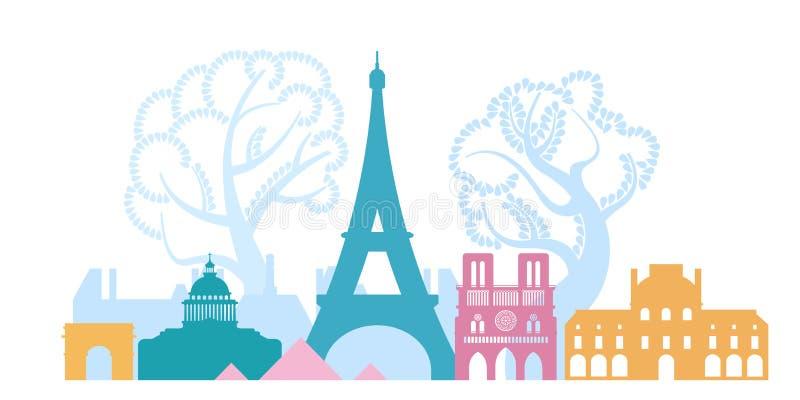 Frances, la ville de Paris L'architecture de la ville illustration stock