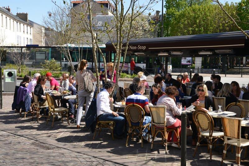 Frances, la ville pittoresque d'en Laye de St Germain image stock