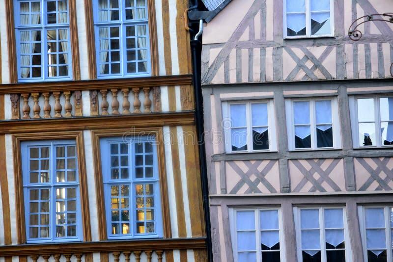 Frances, la ville pittoresque de Rouen dans Normandie image libre de droits