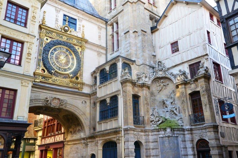 Frances, la ville pittoresque de Rouen dans Normandie images libres de droits