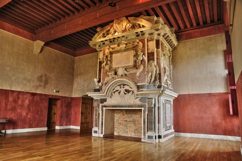 Frances, le château de la Renaissance de Cadillac image stock