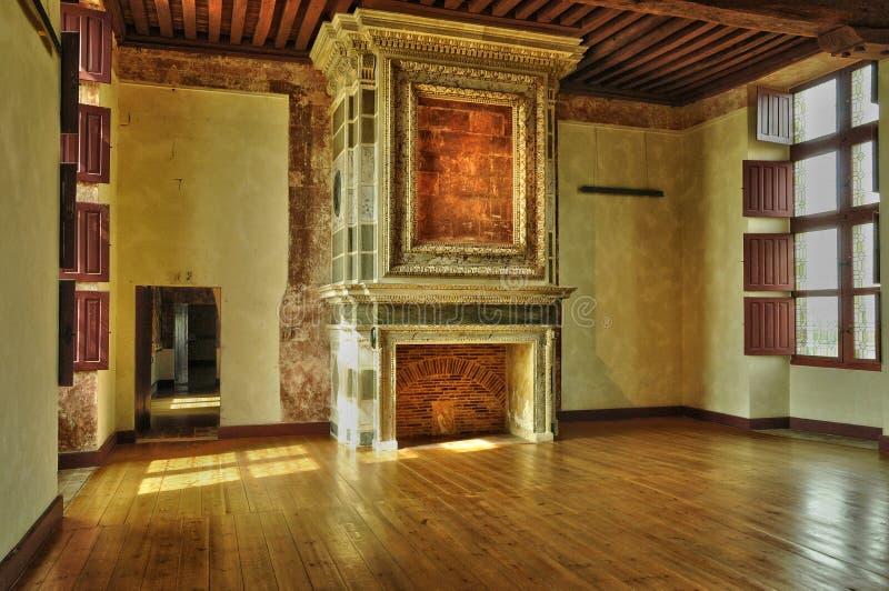 Frances, le château de la Renaissance de Cadillac image libre de droits