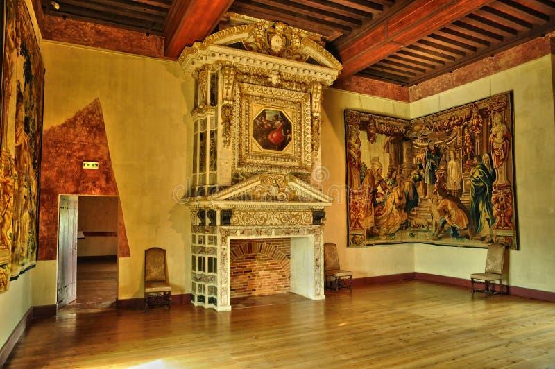 Frances, le château de la Renaissance de Cadillac images stock