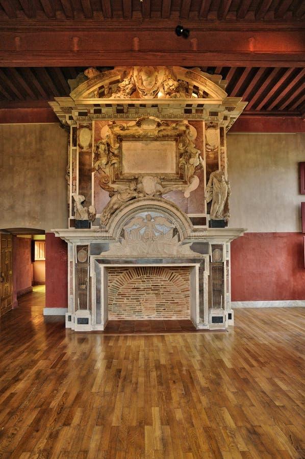 Frances, le château de la Renaissance de Cadillac photo libre de droits