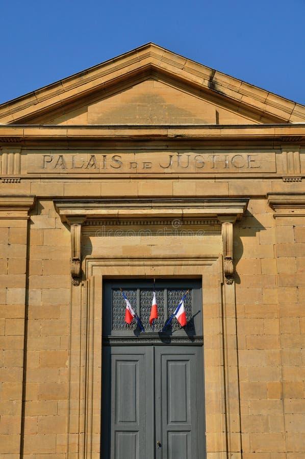Frances, le palais de justice de Sarlat dans Perigord photo stock