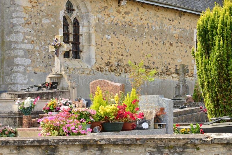 Frances, le village pittoresque de Caillouet Orgeville photos libres de droits